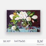 tranh son dau lo hoa chu nhat SD107