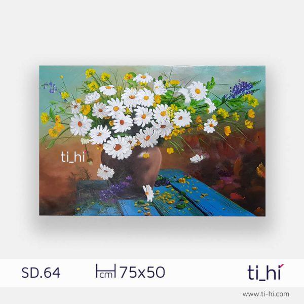 tranh son dau lo hoa chu nhat SD64