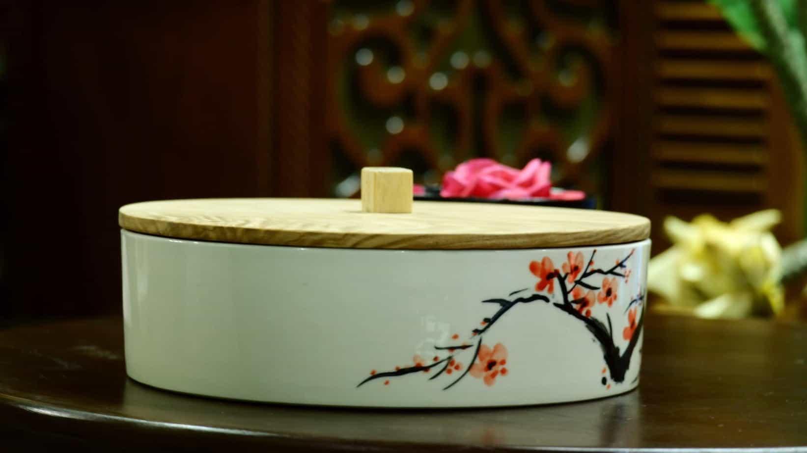 Bộ khay mứt handmade thủ công chắc chắn giúp không gian của bạn đặc biệt hơn trong ngày tết