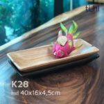 khay gỗ để hoa quả, salad - dáng thuyền size lớn