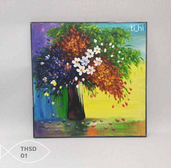 Tranh son dau thsd 01 600x589 - Tranh sơn dầu decor siêu đẹp 50x50