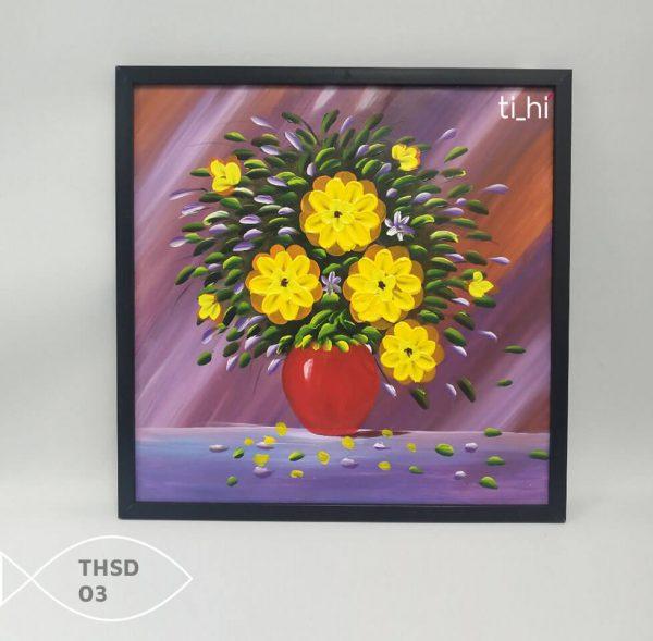 Tranh son dau thsd 03 600x589 - Tranh sơn dầu decor siêu đẹp 50x50