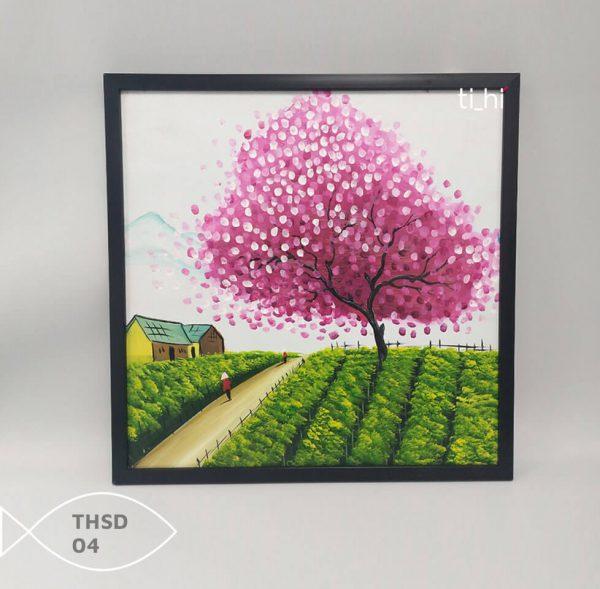 Tranh son dau thsd 04 600x589 - Tranh sơn dầu decor siêu đẹp 50x50