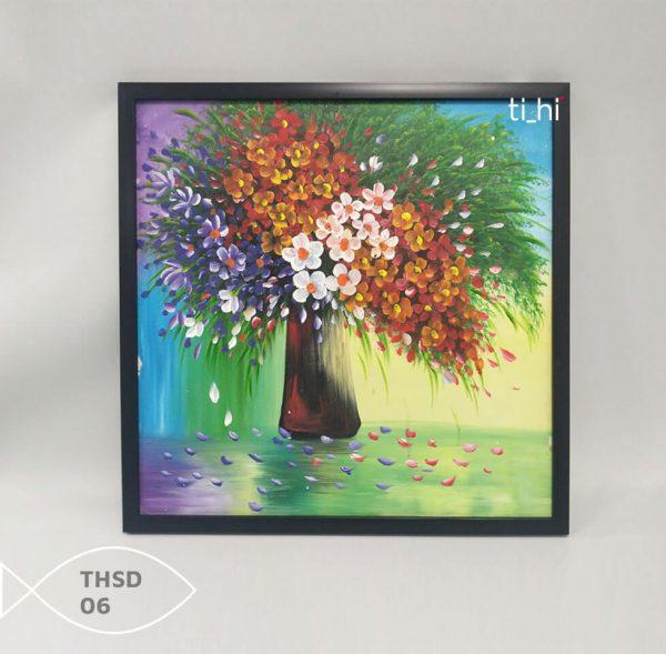 Tranh son dau thsd 06 600x589 - Tranh sơn dầu decor siêu đẹp 50x50