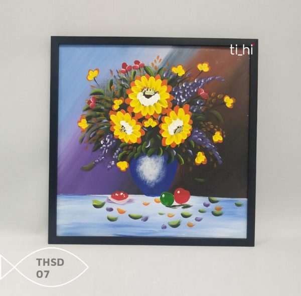 Tranh son dau thsd 07 600x589 - Tranh sơn dầu decor siêu đẹp 50x50