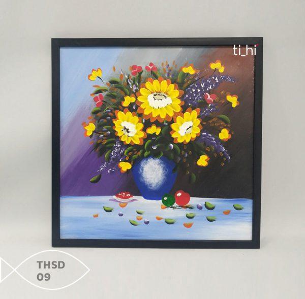 Tranh son dau thsd 09 600x589 - Tranh sơn dầu decor siêu đẹp 50x50