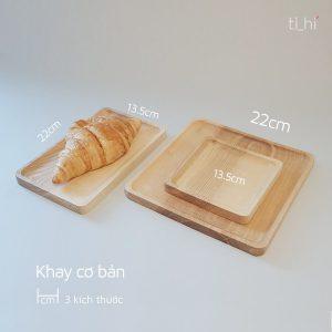 bo khay nhieu kich thuoc 300x300 - Khay gỗ decor cơ bản - 3 kích thước
