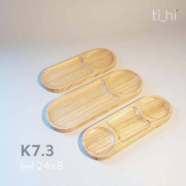 khay go 3 ngan 24x8 2 600x600 - Khay gỗ chia ngăn (3 ngăn) 24x8cm