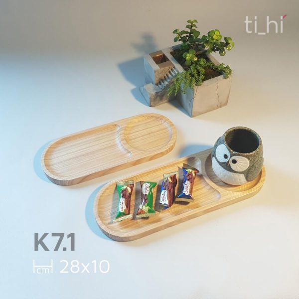 khay go bau duc 2 ngan 28x10 1 600x600 - Khay gỗ decor chia ngăn (2 ngăn)