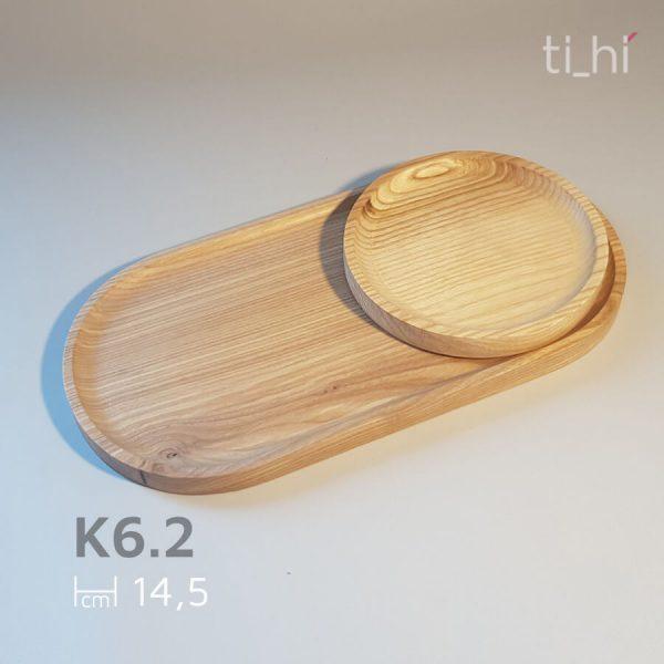 khay go tron 14.5cm 600x600 - Khay gỗ tròn decor - khay lót cốc 14.5cm