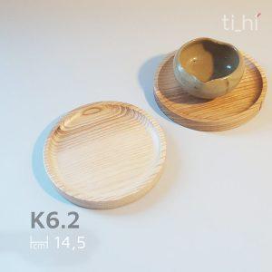 khay go tron 14.5cm 2 300x300 - Khay gỗ tròn decor - khay lót cốc 14.5cm