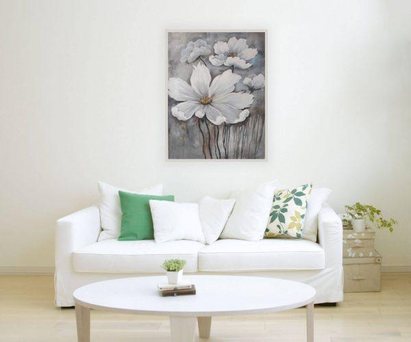 sdmock3 600x500 - Tranh sơn dầu hoa trắng 60x80