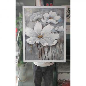 thsd10 300x300 - Tranh sơn dầu hoa trắng 60x80