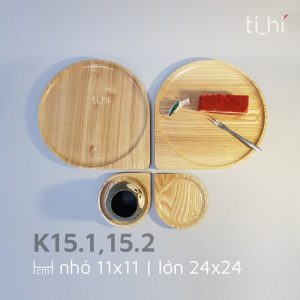 khay go decor hinh giot nuoc k15 4 300x300 - Khay gỗ hình giọt nước 2 size 11cm và 24cm