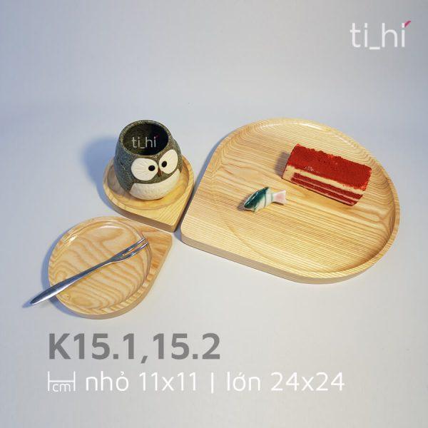 khay go decor hinh giot nuoc k15 5 600x600 - Khay gỗ hình giọt nước 2 size 11cm và 24cm