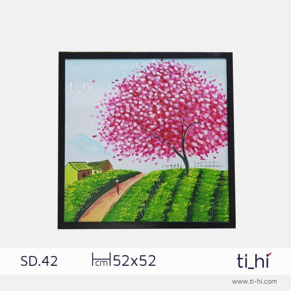 tranh son dau cay SD42 2 600x600 - Tranh sơn dầu cây nhiều mẫu - vuông 2 size 52 và 64cm