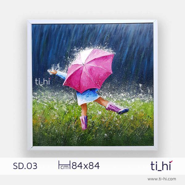 tranh son dau co gai SD03 2 600x600 - Tranh sơn dầu cô gái nhiều mẫu 3 kích thước