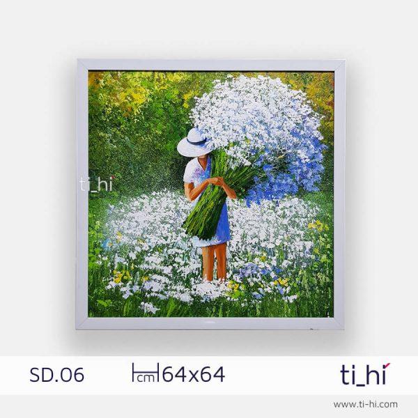 tranh son dau co gai SD06 2 600x600 - Tranh sơn dầu cô gái nhiều mẫu 3 kích thước