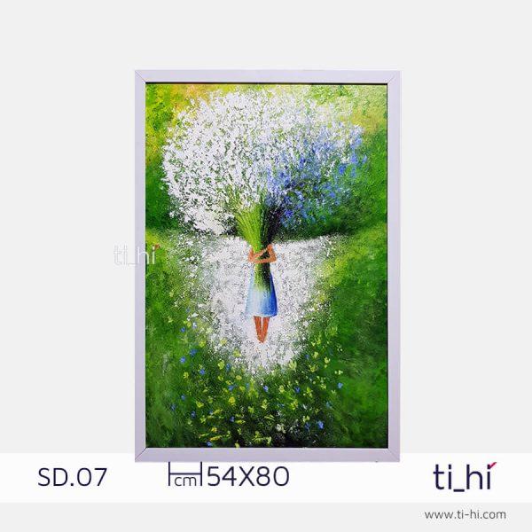 tranh son dau co gai SD07 2 600x600 - Tranh sơn dầu cô gái nhiều mẫu 3 kích thước