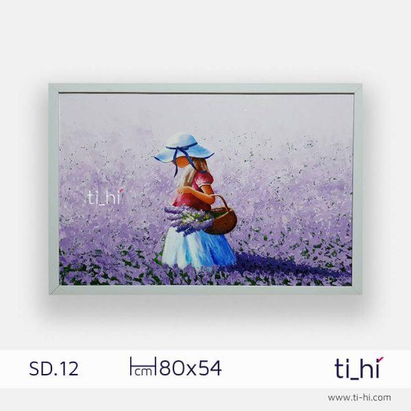 tranh son dau co gai SD12 2 600x600 - Tranh sơn dầu cô gái nhiều mẫu 3 kích thước