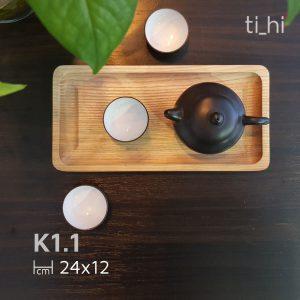 k1 1 3 300x300 - Khay gỗ để bộ ấm trà khía rãnh 24x12 cm