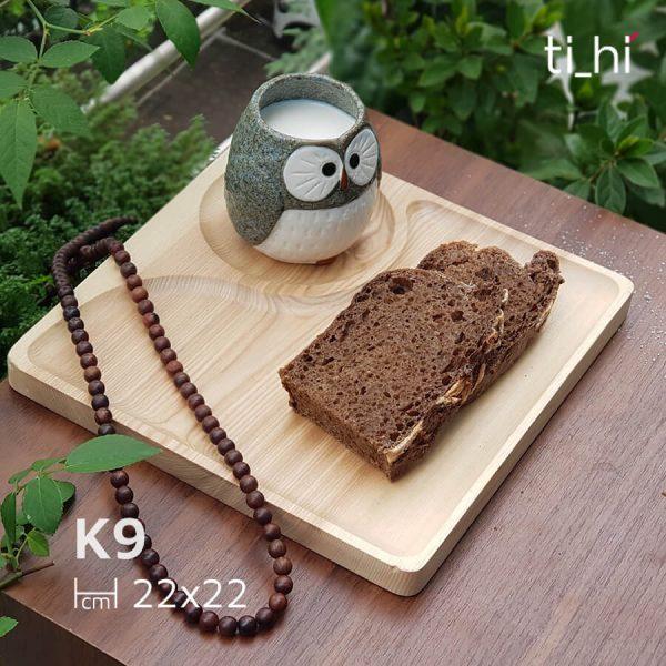 k9 600x600 - Khay gỗ ăn dặm chia ngăn vuông 22cm