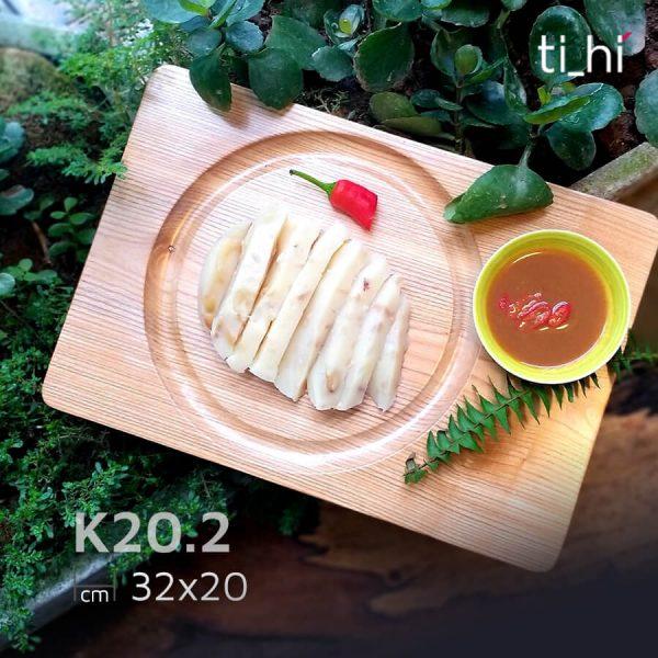 khay dot 6 202 2 600x600 - Khay gỗ khoét rãnh tròn trên mặt 32x20cm và 22x22cm