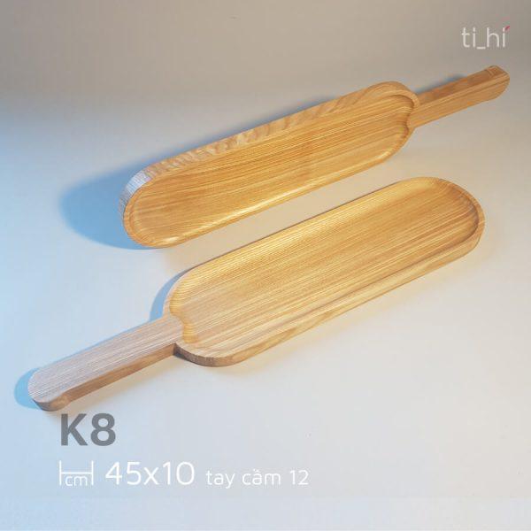 khay go bau duc co tay cam 45x10cm 600x600 - Khay gỗ có tay cầm bày đồ ăn 45cm