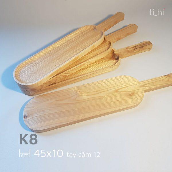 khay go bau duc co tay cam 45x10cm 2 600x600 - Khay gỗ có tay cầm bày đồ ăn 45cm